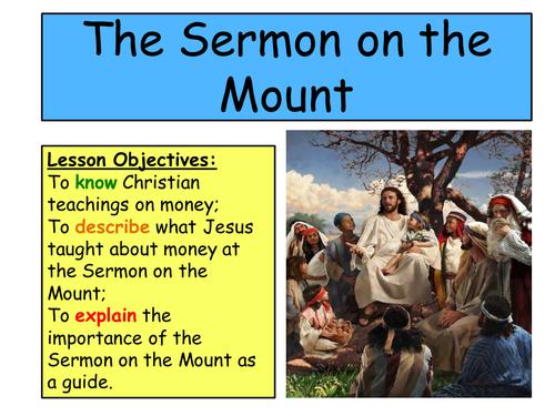 KS3 Charity- Christian Teachings. The Sermon on the Mount