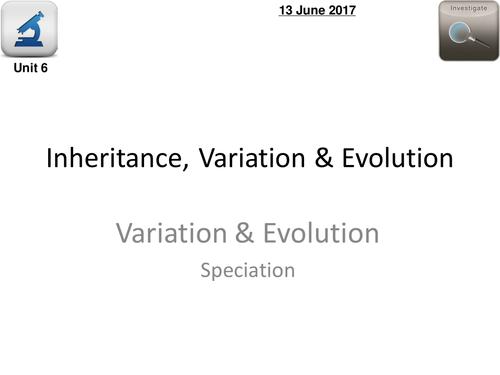 AQA Biology 4.6  –  L13 Speciation