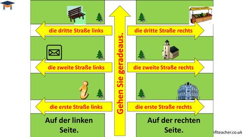 German - Directions handout for weaker pupils
