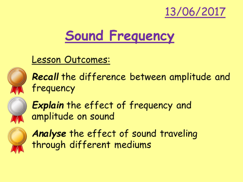 Frequency lesson
