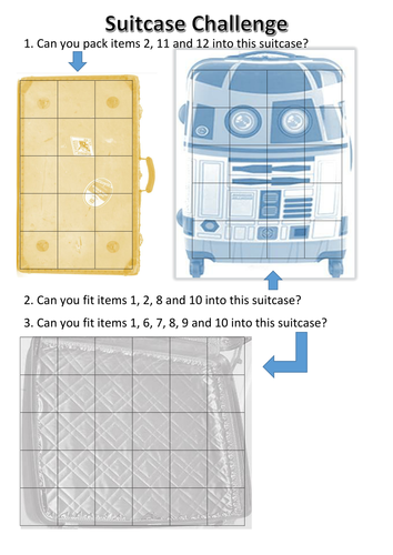 Suitcase challenge, logic puzzle by asilornum - Teaching Resources - Tes
