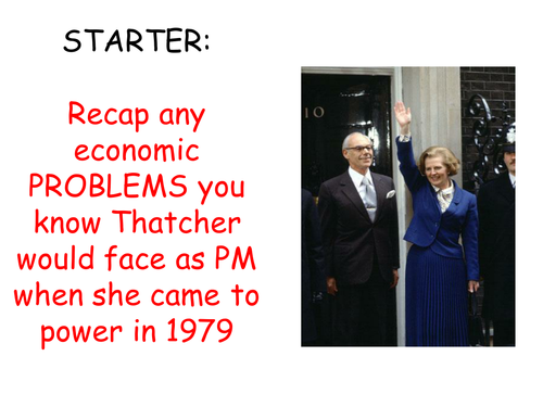 AQA A level modern Britain 1951 - 2007, Thatcher's economic policy