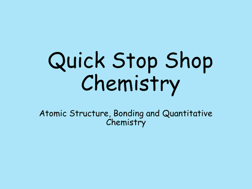 AQA 9-1 Trilogy Revision Powerpoint for Atomic Structure, Bonding and Quantitative Chemistry