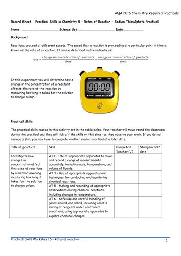 AQA 9-1 Chemistry Required Practicals