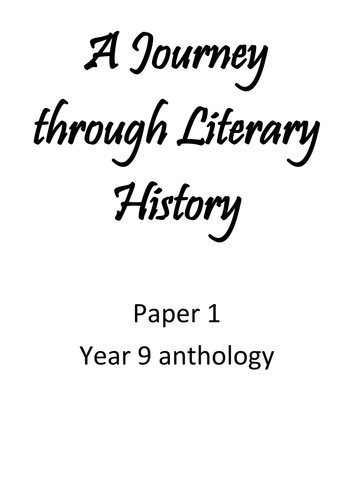 """Anthology of classic fiction extracts """"A Journey Through Literary History"""""""