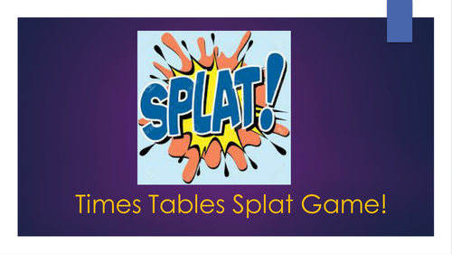 Times Tables Splat Game
