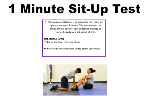 Fitness Testing Instruction Cards