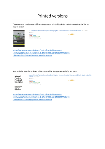 Exemplar lab reports for all 12 AQA A Level Physics required practicals