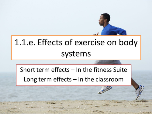 OCR GCSE PE Effects of exercise