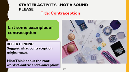 AQA new specification-The artificial control of fertility (contraception)-B11.7