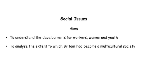 AQA   A level Modern Britain, Social issues under Blair's government