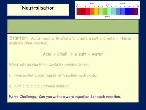 neutralisation for 9-1 GCSE