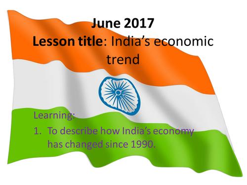 India's economic trend