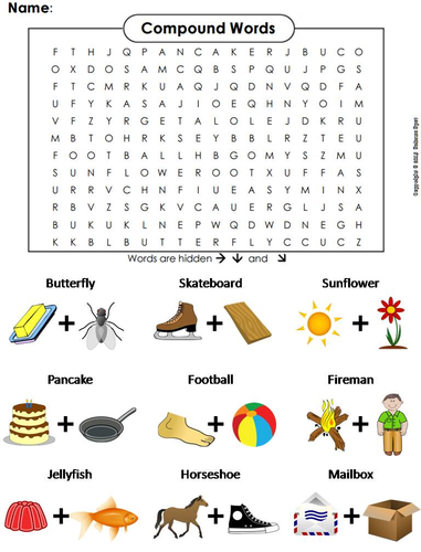 Image result for compound words