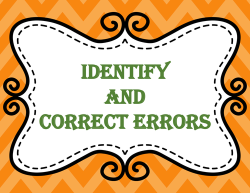 Identify and Correct Errors with Frequently Confused Words