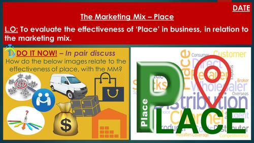 place mix marketing business level studies gcse lesson tes resources