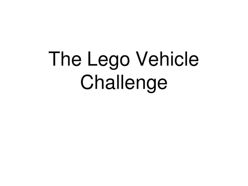 lego Vehicle STEM challenge