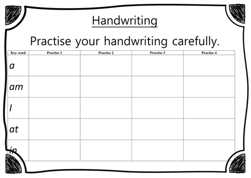 eyfs reception handwriting worksheet list 1 pack 1 by acrosbie teaching resources. Black Bedroom Furniture Sets. Home Design Ideas