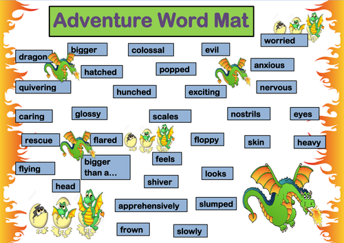 Dragon Adventure Writing Template By Jj Curtis1709