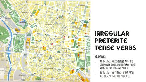 Irregular preterites Spanish (Tener, ser, estar, ir and hacer). Workbook, PPT and answers