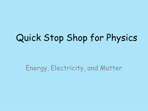 AQA 9-1 Trilogy Physics Revision Powerpoint for Energy, Electricity and Matter