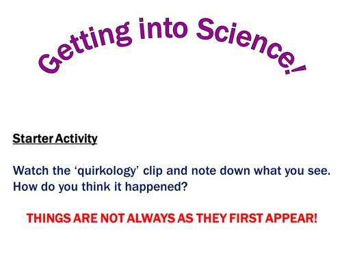 Introduction to Secondary Science