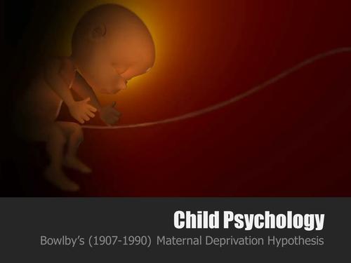 Maternal Deprivation Hypothesis AQA Pscyhology 2015