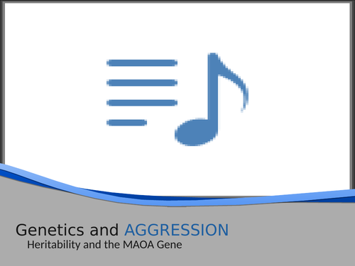 AGGRESSION : Genetic explanation AQA Psychology 2015