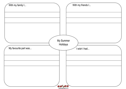 Summer Holiday Recount Plan by patriciarose76 - Teaching Resources - Tes