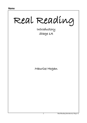 Real Reading Introductory Stage 1a