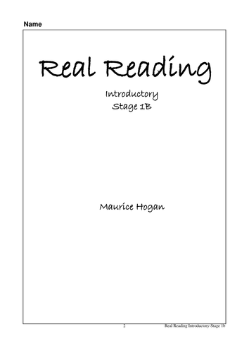 Real Reading Introductory Stage 1B