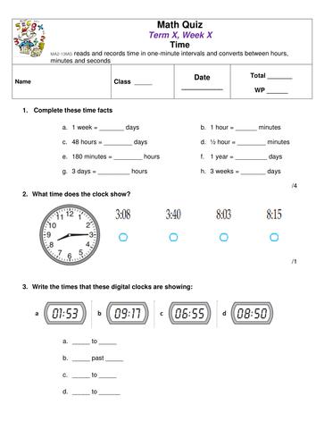 Math Quiz: Time