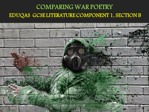 GCSE EDUQAS POETRY ANTHOLOGY EXAM RESPONSES (WAR POEMS)