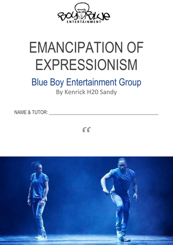 GCSE Dance Emancipation of Expressionism Booklet EXAMPLE