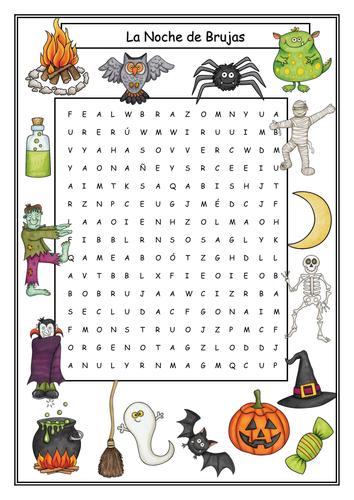 Halloween Activities Spanish - La Noche de Brujas