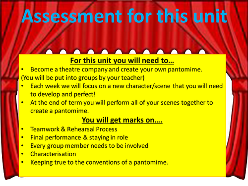KS3 Drama - Pantomime - Lesson 6 - assessment (1)