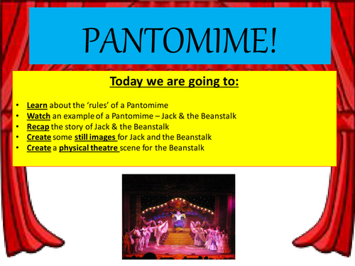 KS3 Drama (SEN Differentiated) Pantomime - Lesson 1