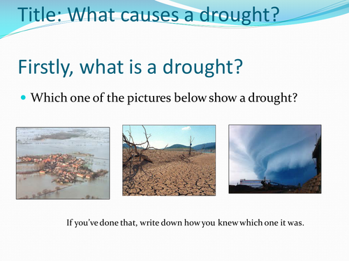 (2) Droughts Lesson, Natural Hazards SoW - Geography Year 7