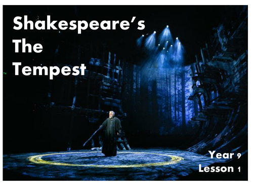 Practical Drama Lesson - The Tempest - Lesson 1