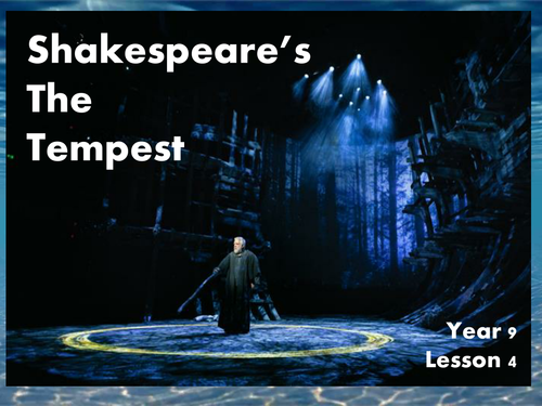 Practical Drama Lesson - The Tempest - Lesson 4