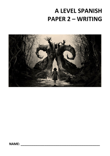 New Spanish A Level Paper 2 (Writing) Support booklet (El laberinto del fauno - Pan's Labyrinth)