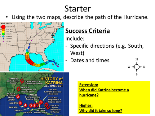 (8) Hurricane Katrina Lesson, Natural Hazards SoW - Year 7 Geography