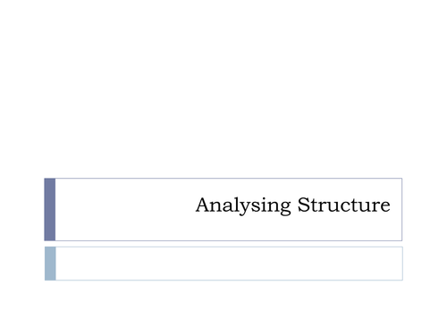 How to analyse structure in poetry