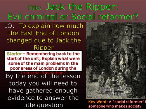 Did Jack the Ripper improve London?