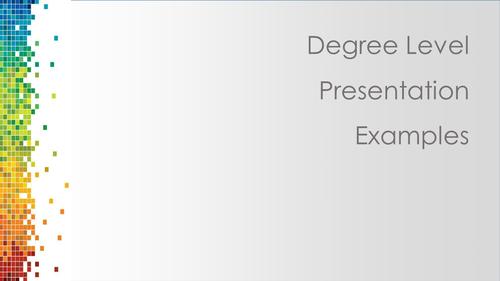 Graphics: A Level Presentation Techniques