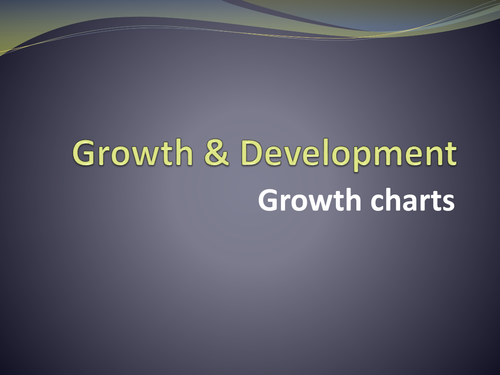 Percentile (growth) charts - Child Development / Health and Social CAre