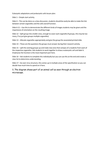 Prokaryotic cells and adaptations. A Level Biology, AQA 7401/7402