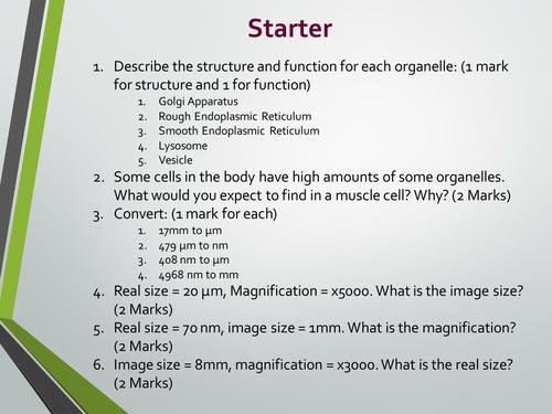 Cell fractionation/ultracentrifugation. A level Biology, AQA 7401/7402