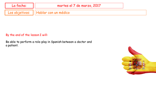 GCSE Spanish: At the Doctors