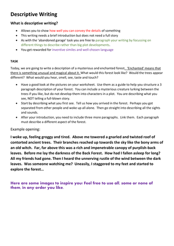 descriptive essays about scary place My favorite restaurant every time we went anywhere, but for a little place called the main purpose of a descriptive essay is to describe your.